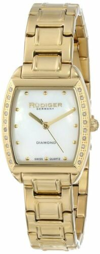 Rudiger Women's R2600-02-009 Bonn Gold Ion-Plated Mother-Of-Pearl DIAMOND Watch