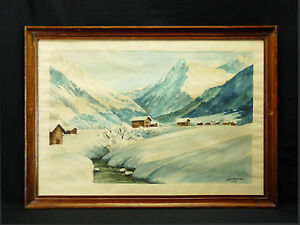 Vista-di-Montagna-Alpi-Montagna-Alpen-Berg-Alps-Mountain-Frame-Winter-VI