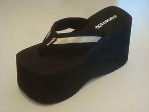 Flip Flop Sandalia De Tanga Bostek De Plataforma Zapatos Estilo 110b 5 Pulgadas Ebay