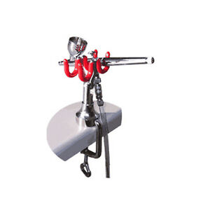 harder steenbeck table edge airbrush stand holds two airbrushes