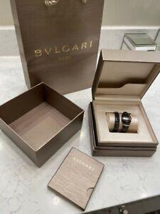 Bulgari Serpenti Spiga Quartz Black Ceramic Ladies Bracelet Watch 102734