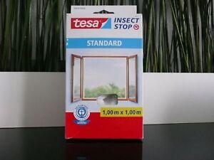 1x-TESA-Fliegennetz-UV-Fliegengitter-100x100cm-Insektenschutz-Mueckengitter-weiss