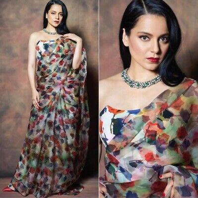Sari Silk Banarasi Saree Designer Indian Blouse Bollywood Wear Wedding Soft