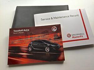 2011 à 2016 neuf Vauxhall astra gtc /& vxr service livre manuel /& portefeuille pack