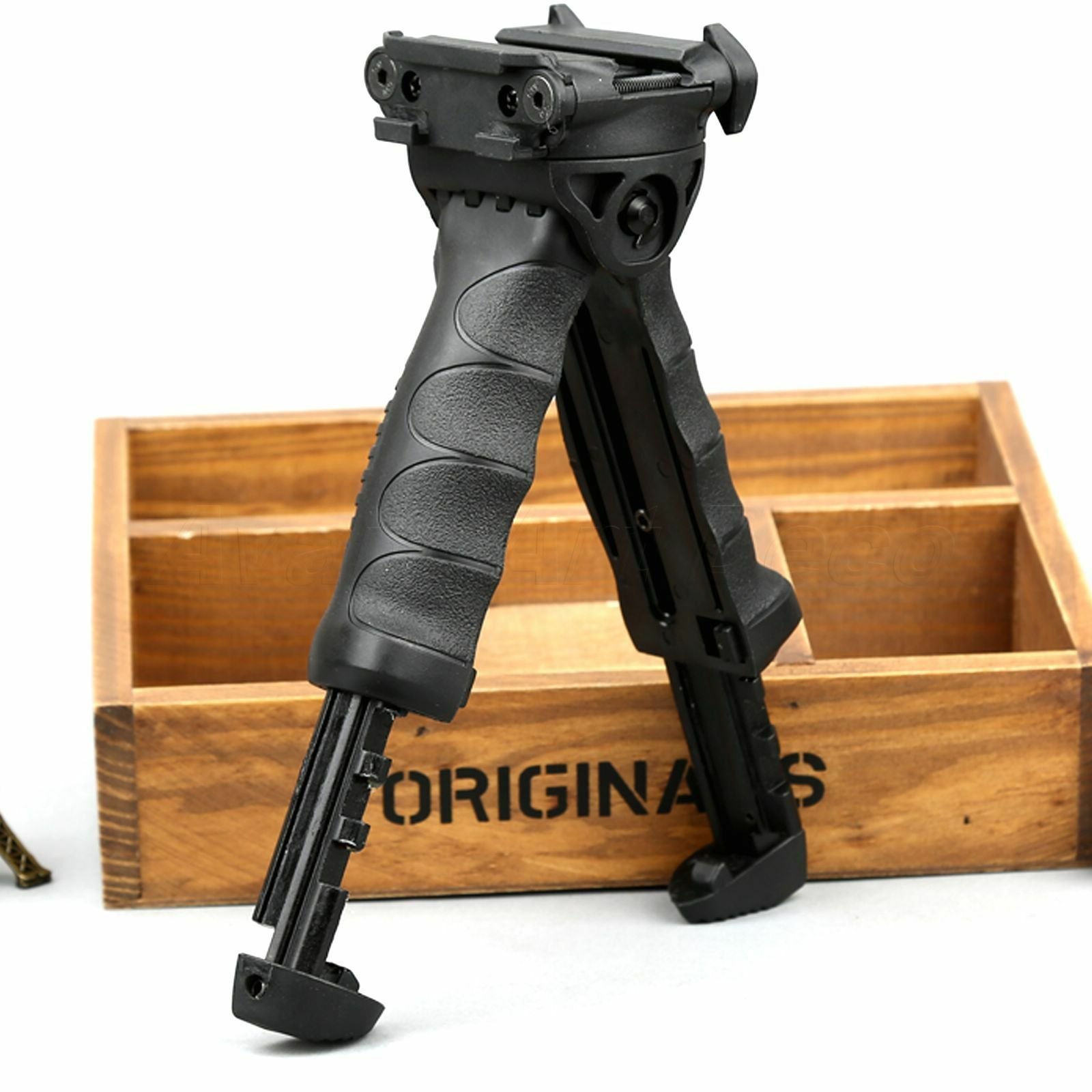 1PCS Military Foregrip Swivel Foldable Bipod 20mm Picatinny Rail For Rifle Scope