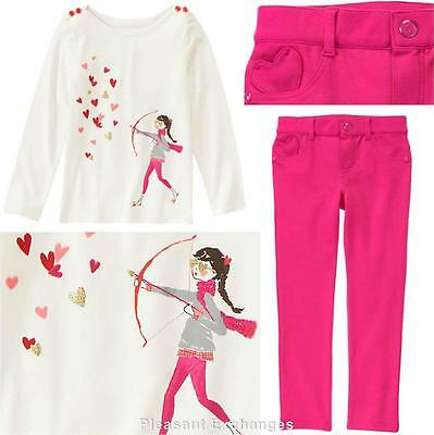 NWT Gymboree 5 or 6 FAIRY TALE FOREST Kid Girls 2pc Adventure Top /& Ponte Pants