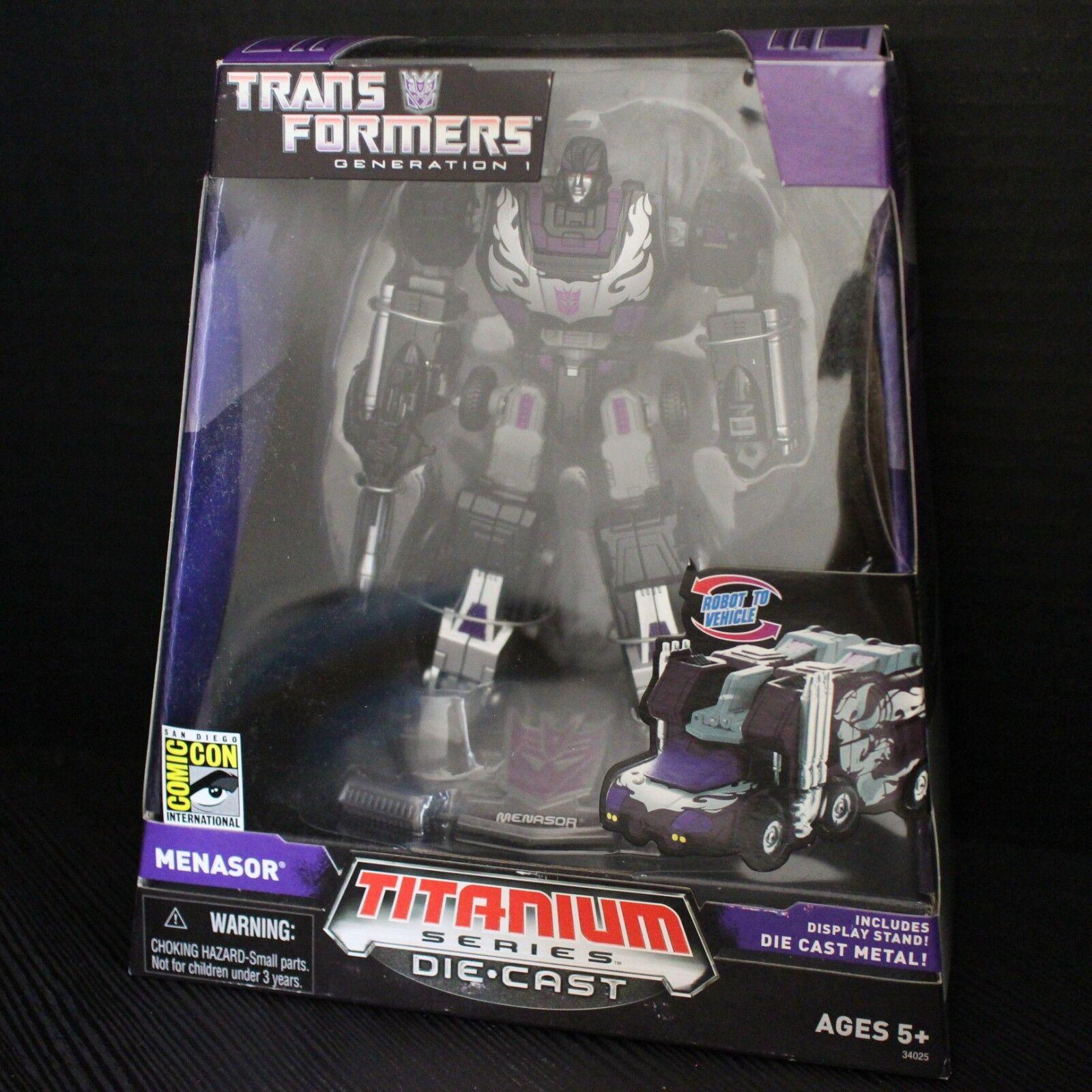 Transformers 2007 San Diego comic-con Titane Menasor Noir Hot Rodimus par Hasbro