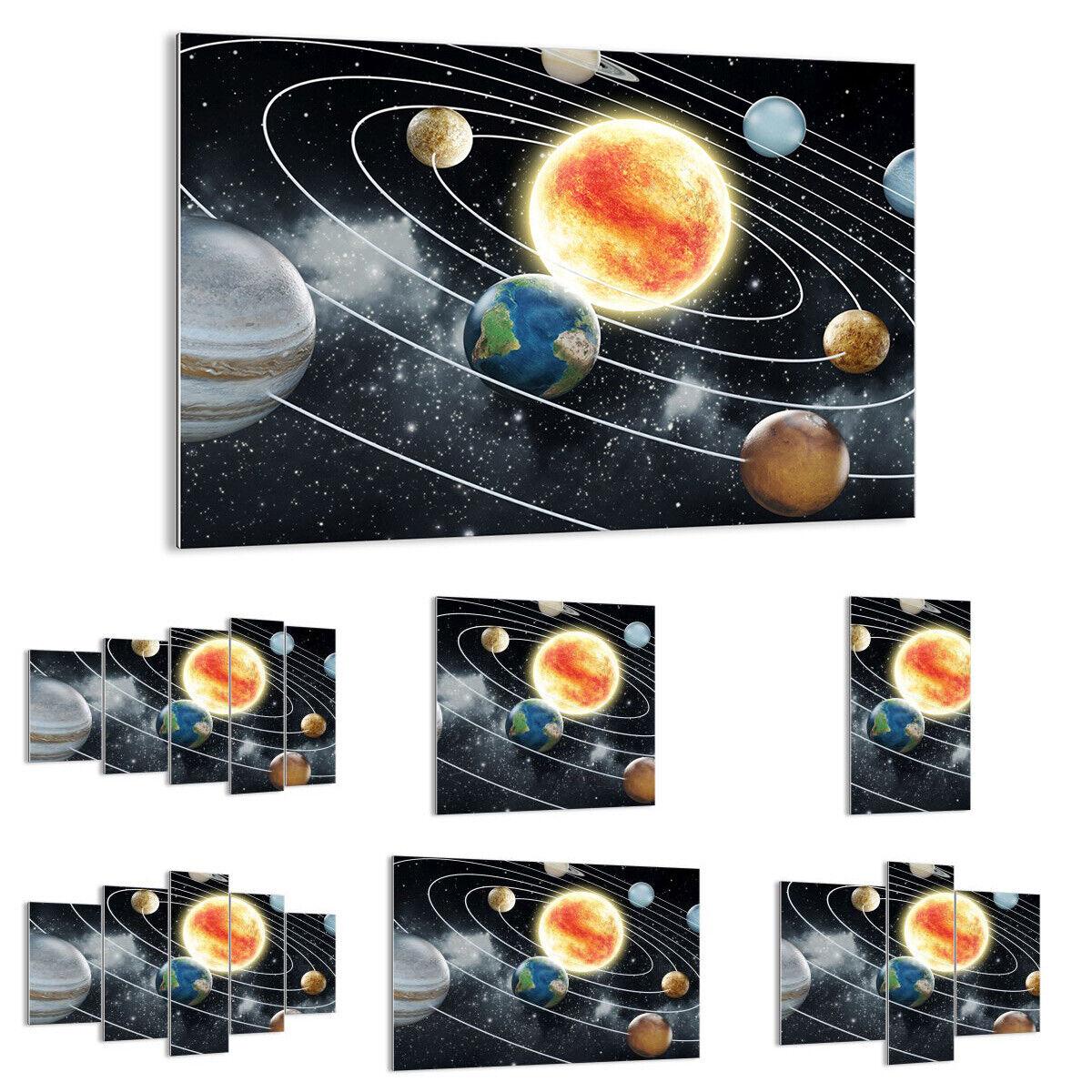 GLASBILD Wandbild Deko Kosmos Planet 3646 DE