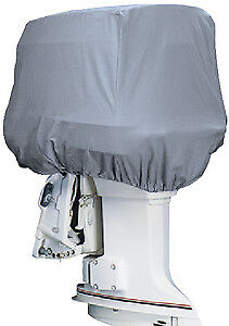 Outboard Motor Cover Gray Cotton Canvas 24 x 18 x 23 50-115 HP Attwood 10543