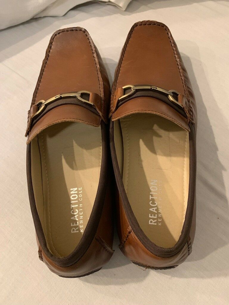 Kenneth Cole Reaction Mens Sound Proof Brown Loafers1 13M
