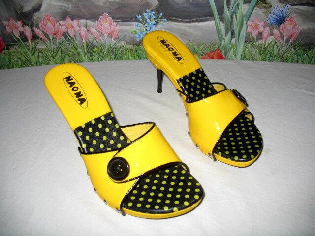 New NANA jaune Patent Leather Dress Sandals 7.5