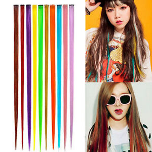 PW-Women-Multi-Color-Long-Straight-Synthetic-Clip-In-Human-Hair-Extensions-Pi