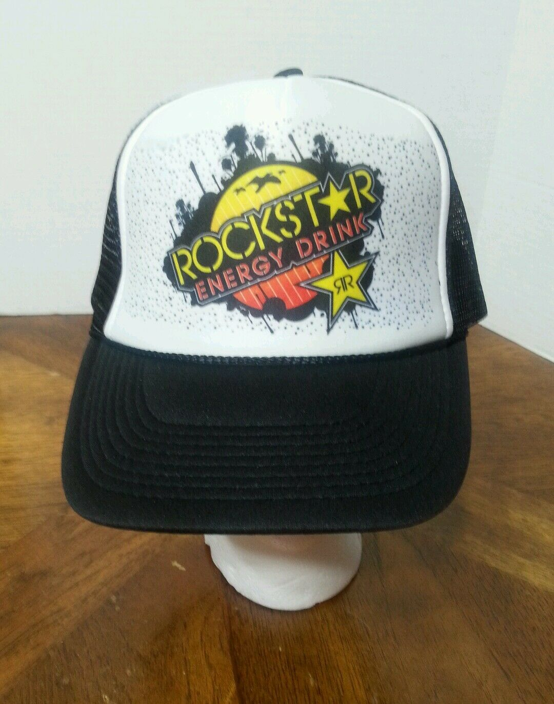 4153a83b ... get rockstar cap energy drink trucker hat cap rockstar mesh snapback  nissun osfm 22e6eb 7d3f8 f2a13