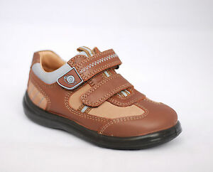 New Boys Start-rite Leather Rowdy Shoes Light Brown *SPECIAL OFFER*