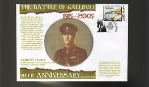 90th-ANNIV-OF-GALLIPOLI-ANZAC-DAY-COVER-ALBERT-JACKA