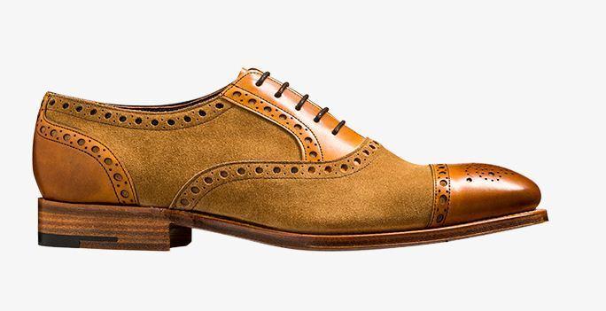 Handmade Men's Genuine Leather Two Tone Lace Up Oxford Brogue Toe Cap scarpe