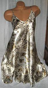Cream-Gold-Brown-Floral-Chemise-Short-Gown-1X-2X-Plus-Size-Adjustable-straps