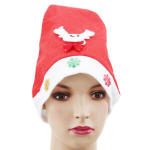 d03a0f97ff7 Christmas Xmas Hats Santa Claus Hat Holiday Adults Teens Kids Unisex ...