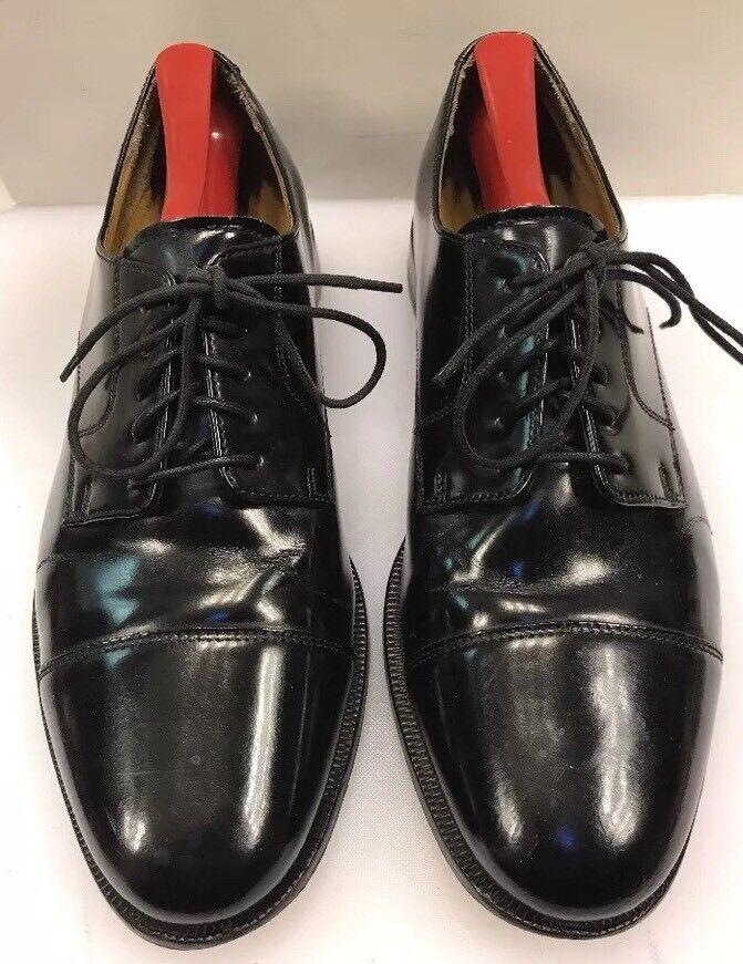 Cole Haan Men 9 D   M Caldwell Cap Toe Oxfords Black Leather shoes 08330