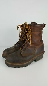 Red Wing Work Logger Boots #4417 Steel