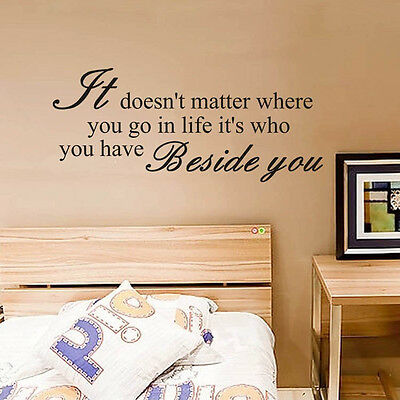 "New Design""It donot matter ""Quote DIY Wall Stickers Removable  Decal Home Decor"