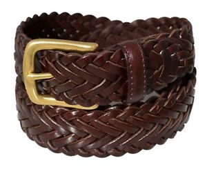 796-Men-s-Full-Grain-Braided-Cowhide-Leather-Belt-w-Solid-Brass-Buckle