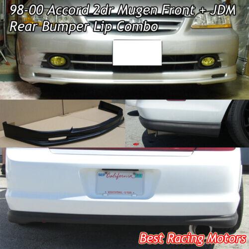 Fit 98-00 Accord 2dr PU + OE Style Rear Bumper Lip PP Mu-gen Style Front