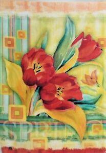 Super Tulips Garden Flag by Breeze Art #2213 Spring Beauty!
