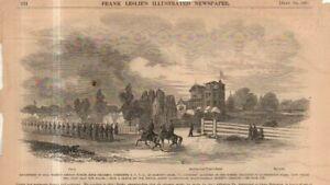 1861 Leslie's - July 13 - Original print only; Hampton Creek VA - NYVR Weber's