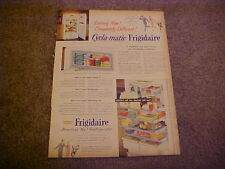 1952 FRIGIDAIRE Cycla-Matic Refrigerator--full-color LARGE vintage ad from 52