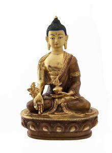 Soprammobile-Tibetano-Budda-Ratnasambhava-Rame-E-Oro-Nepal-Budda-AFR8-4383