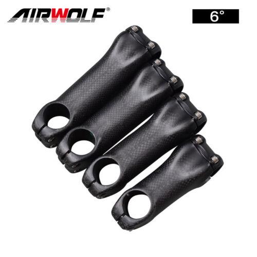 AIRWOLF Full Carbon Fiber Stem 6°//17° for Road Mtb Bike Stems 31.8*70-130mm