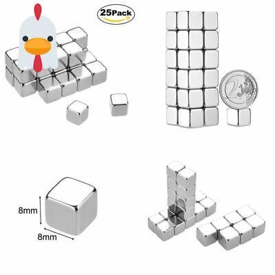 Lynlon Neodym-super-magnete Würfel 8 X 8 X 8 Mm [25 Stücke] Sehr Starke Magnet Up-To-Date-Styling