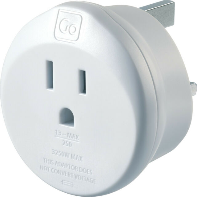 Go Travel Earthed America to UK Adaptor - USA to UK - Adapter (554)