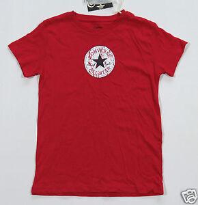Nuovo Maglietta Bambini Star T All Converse Ragazzo Rosso shirt Kids XTrPXqHw