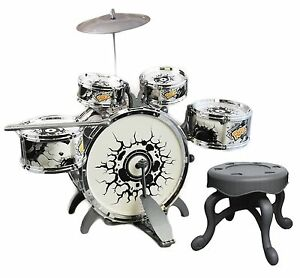 Childs Kids My First Drum Kit Play Set Drums Musical Toy