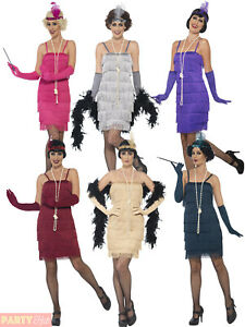 Femmes-Charleston-Costume-d-039-aileron-adultes-1920-S-Gatsby-Deguisement-Femme-Costume