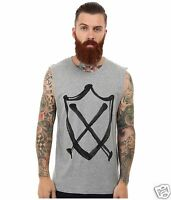 Zanerobe Men Xl Gray Zr Graffiti Marle Sweatshirt Tank Top T-shirt Street Muscle