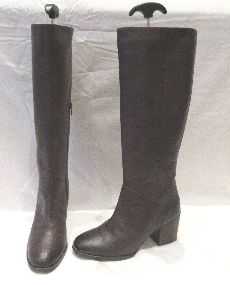BN FAT FACE RED BURGUNDY LEATHER WELLS KNEE HIGH BOOTS UK 6 EU 39 (1374)