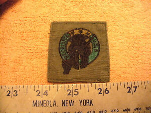 US Army Recruiter OD Green /& Black badge cloth patch