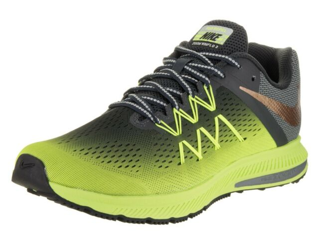 sports shoes c8195 a5791 Nike Zoom Winflo 3 Shield Green/black Size 8 Mens Running Shoes W/ H2o Repel