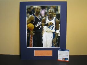 02147b1e009 KARL MALONE (HOF 10) SIGNED AUTOGRAPHED CUT   MATTED 8X10 PHOTO UTAH ...