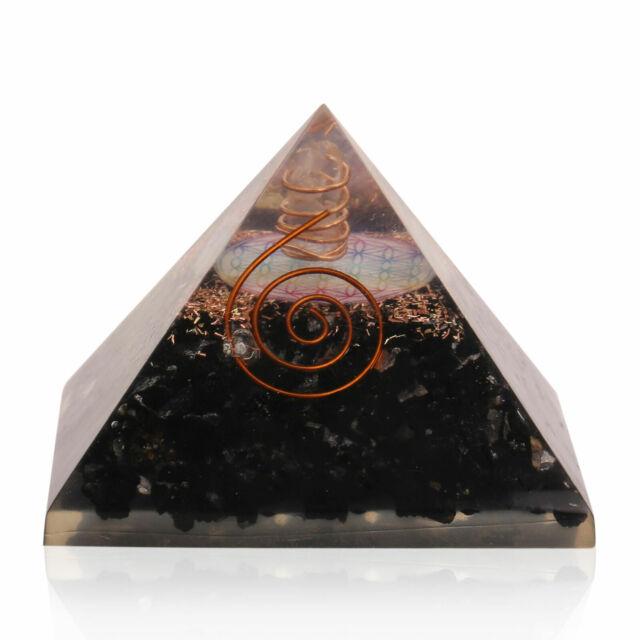 Extra Large Tourmaline Stone Orgonite (70-75mm) Orgone Gemstone Pyramid X-large