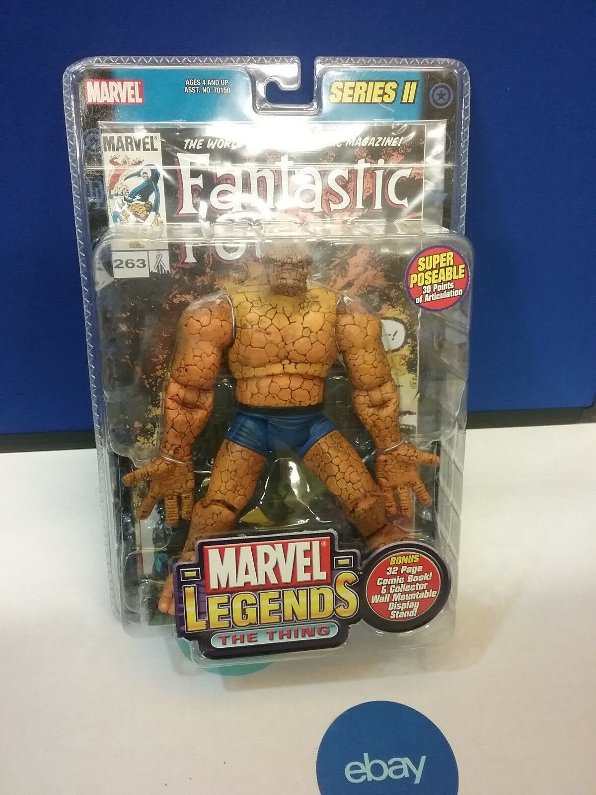 Marvel Legends The Thing Figure Series 2 Toybiz NEW NEW NEW 966301