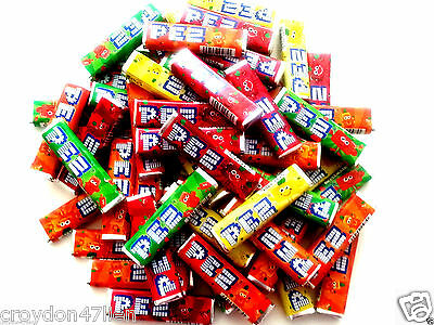 50 x PEZ Candy -  Refills Fruit Flavoured Lollies