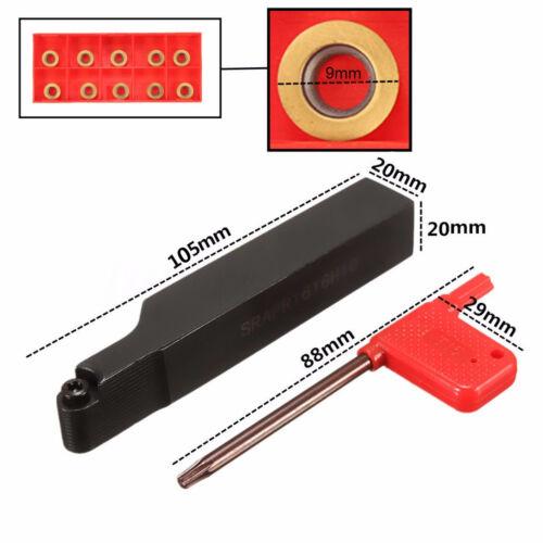 10Pcs RPMT10T3MO Inserts SRAPR2020K10 Face Milling External Lathe Blade Holder