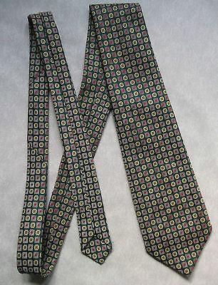 Vintage Cravatta Dunn & Co Da Uomo Cravatta Moda Retrò Crema Verde Rosso-mostra Il Titolo Originale Grande Liquidazione