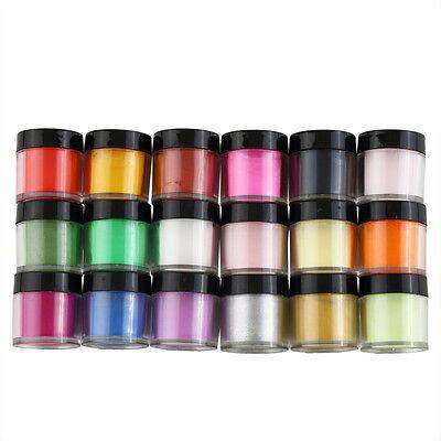 18 Colors Acrylic UV GEL Polish DIY Kit Decorate Manicure Powder Nail Art FE