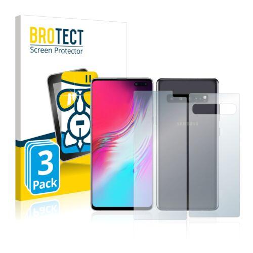 3x protección cristal blindado diapositiva para Samsung Galaxy s10 5g anverso + reverso