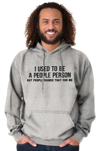 Used To Be People Person Ruined Funny Shirt Cool Gift Cute Hooded Sweatshirt